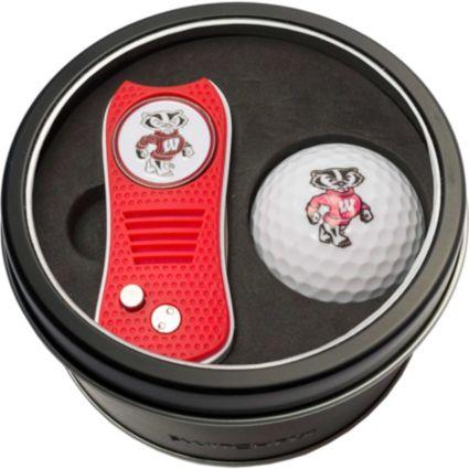 Team Golf Wisconsin Badgers Switchfix Divot Tool and Golf Ball Set