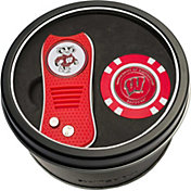 Team Golf Wisconsin Badgers Switchfix Divot Tool and Poker Chip Ball Marker Set