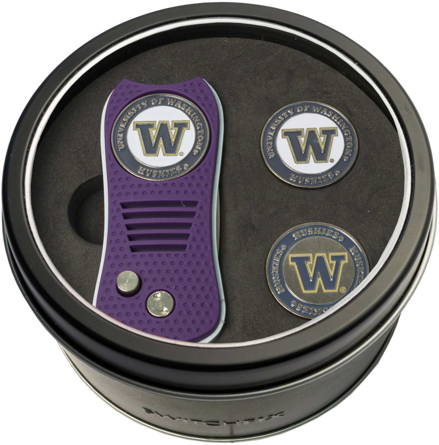 Team Golf Washington Huskies Switchfix Divot Tool and Ball Markers Set