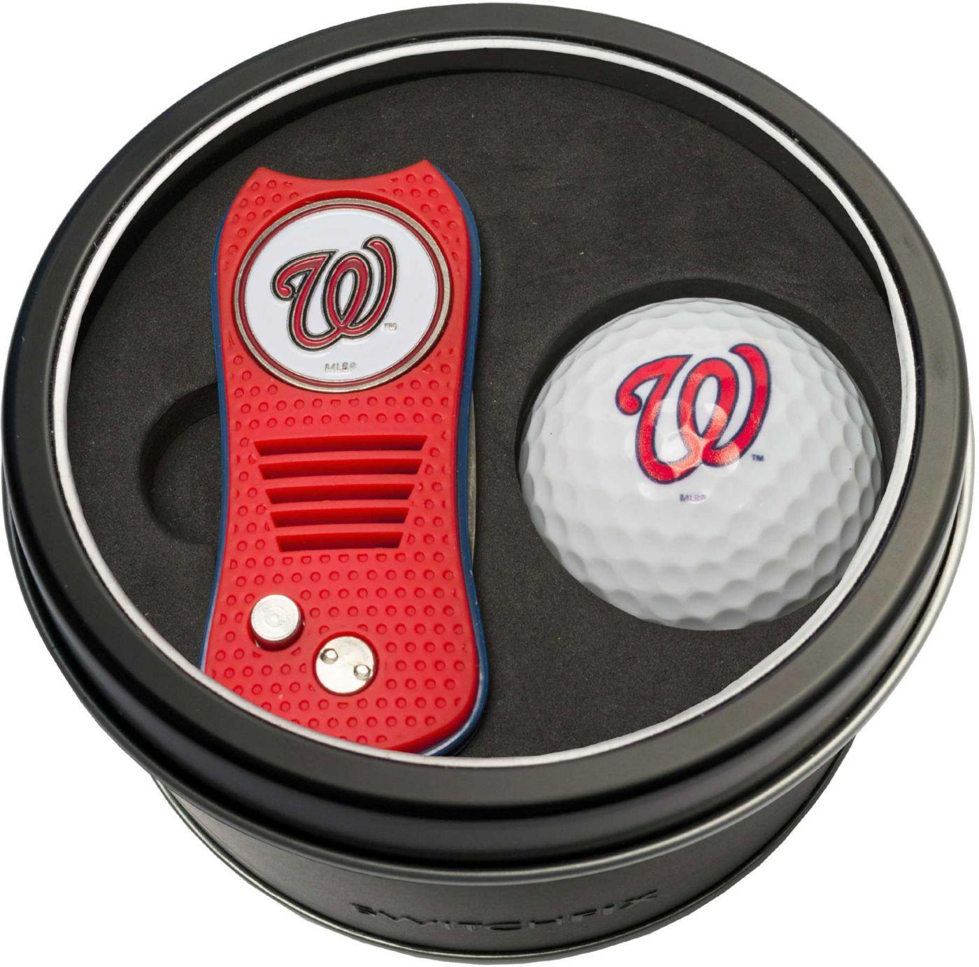 Team Golf Washington Nationals Switchfix Divot Tool and Golf Ball Set