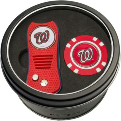 Team Golf Washington Nationals Switchfix Divot Tool and Poker Chip Ball Marker Set