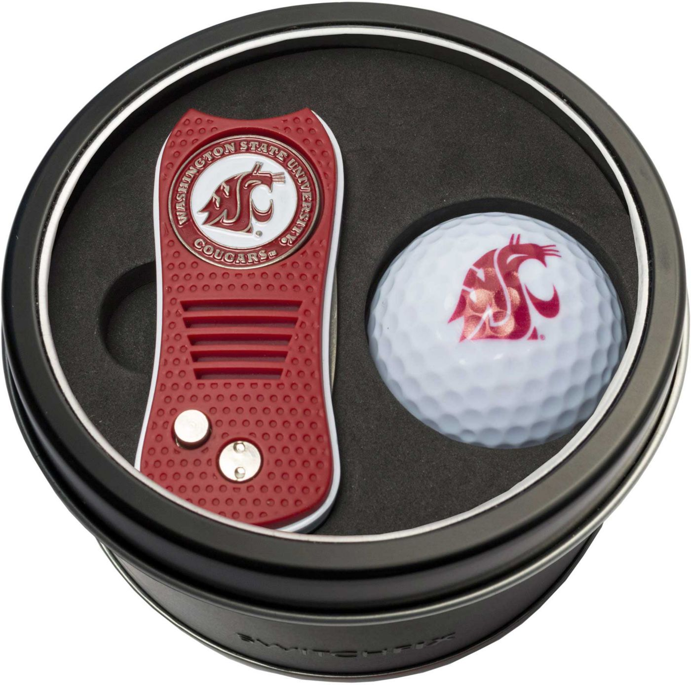 Team Golf Washington State Cougars Switchfix Divot Tool and Golf Ball Set