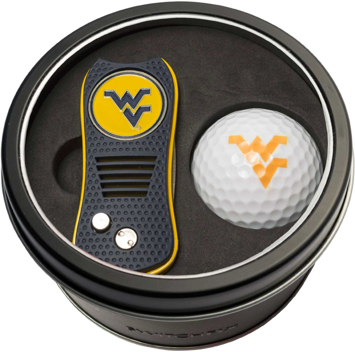 Team Golf West Virginia Mountaineers Switchfix Divot Tool and Golf Ball Set