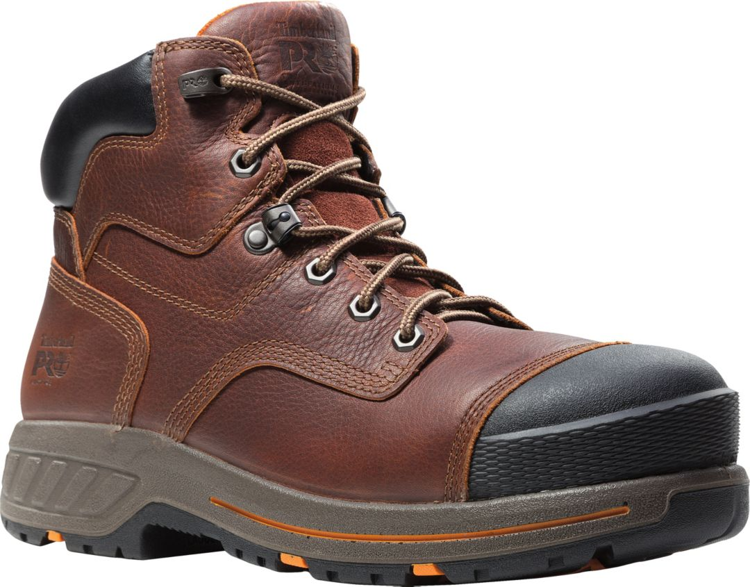 55886998561 Timberland PRO Men's Helix HD Composite Toe 6'' Waterproof Work Boots