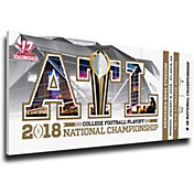 That's My Ticket 2017 National Champions Alabama Crimson Tide Small Canvas Mega Ticket