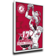 That's My Ticket 2017 National Champions Alabama Crimson Tide Small Sports Propaganda Canvas Print