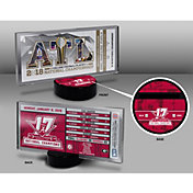 That's My Ticket 2017 National Champions Alabama Crimson Tide Commemorative Ticket Display Stand