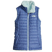 The North Face Girls' Reversible Mossbud Swirl Insulated Vest