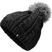 The North Face Youth Triple Cable Fur Pom Beanie