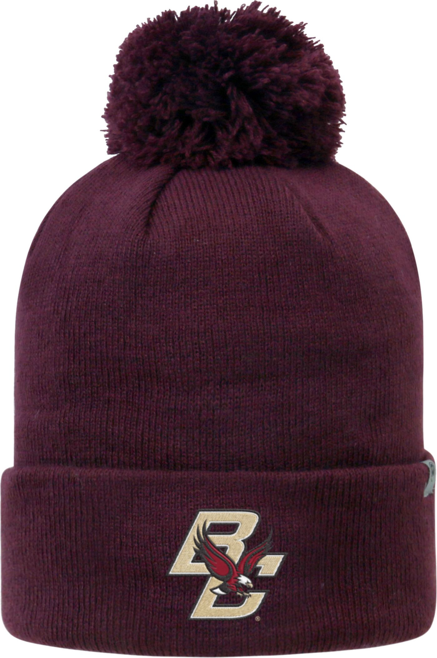 Top of the World Men's Boston College Eagles Maroon Pom Knit Beanie
