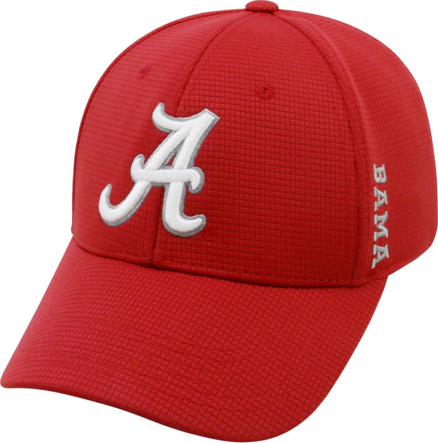 Top of the World Men's Alabama Crimson Tide Crimson Booster Plus 1Fit Flex Hat