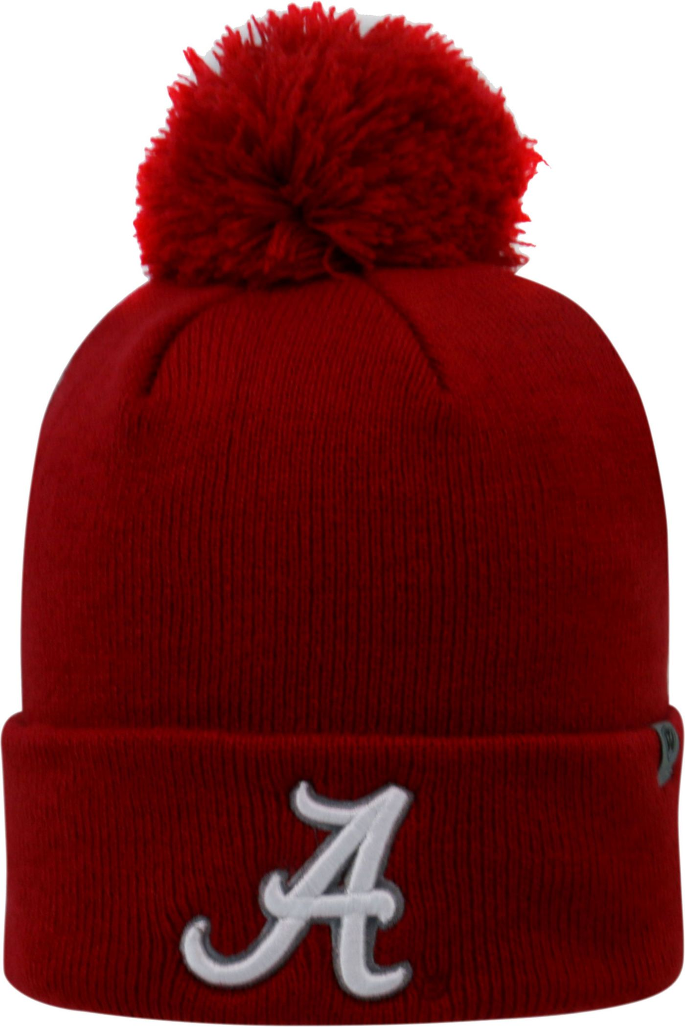 Top of the World Men's Alabama Crimson Tide Crimson Pom Knit Beanie