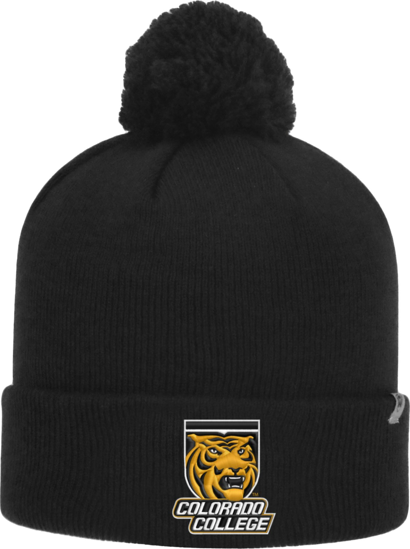 Top of the World Men's Colorado College Tigers Black Pom Knit Beanie