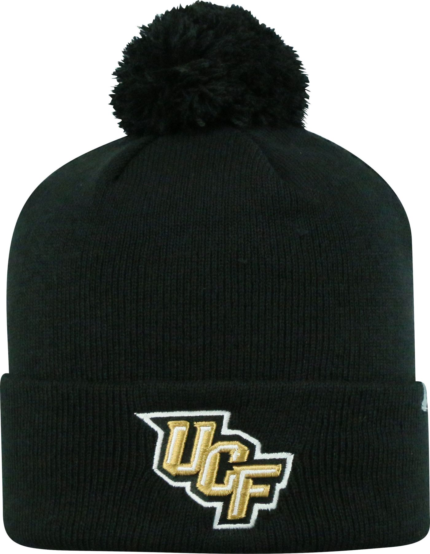 Top of the World Men's UCF Knights Black Pom Knit Beanie