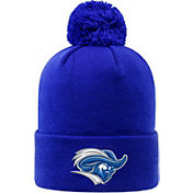 Top of the World Men's Christopher Newport Captains Royal Blue Pom Knit Beanie