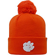 Top of the World Men's Clemson Tigers Orange Pom Knit Beanie