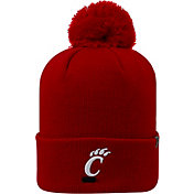 Top of the World Men's Cincinnati Bearcats Red Pom Knit Beanie