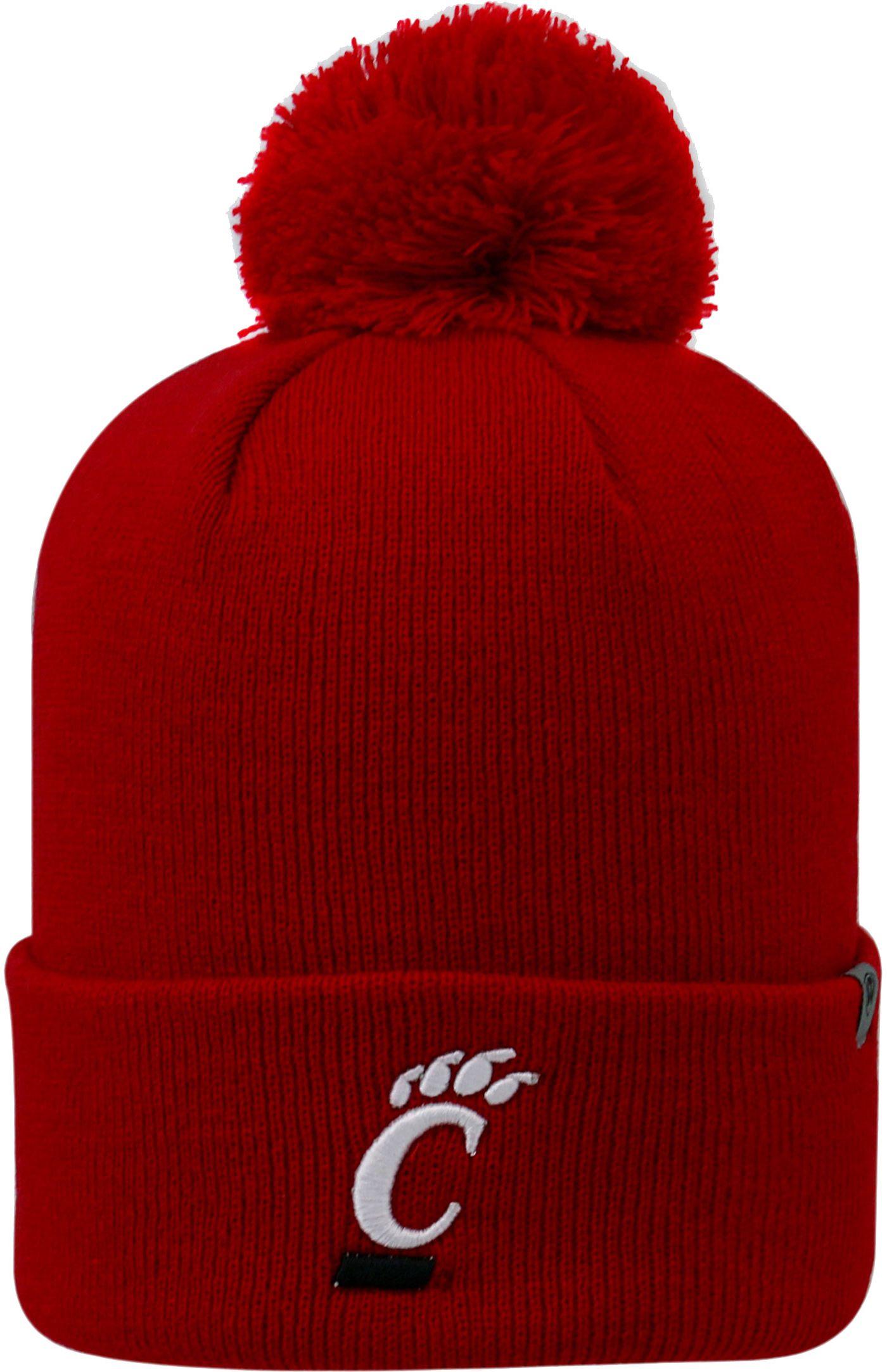 Top of the World Men's Cincinnati Bearcats Red Pom Knit Beanie