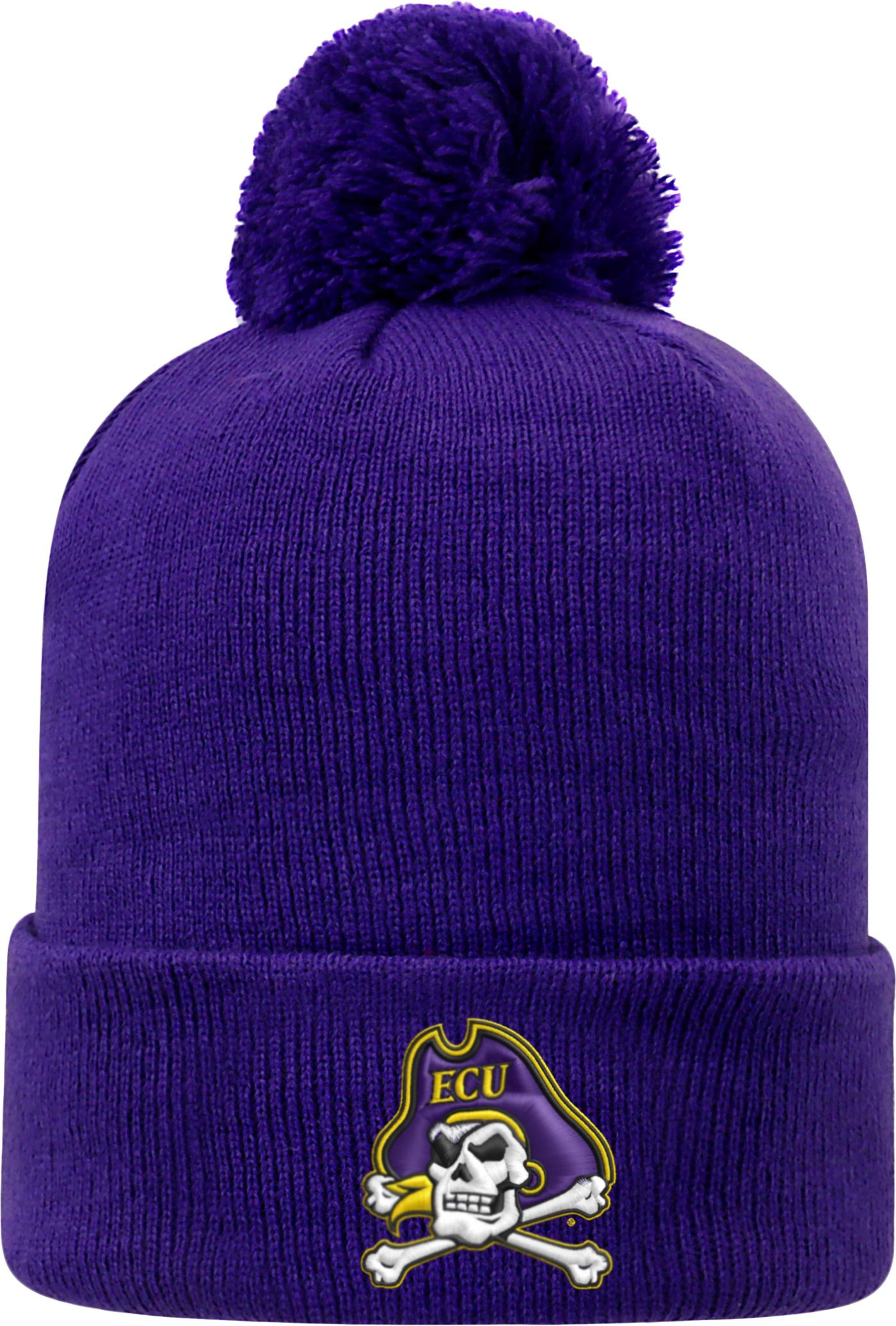 Top of the World Men's East Carolina Pirates Purple Pom Knit Beanie