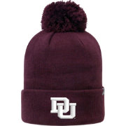 Top of the World Men's Denver Pioneers Crimson Pom Knit Beanie