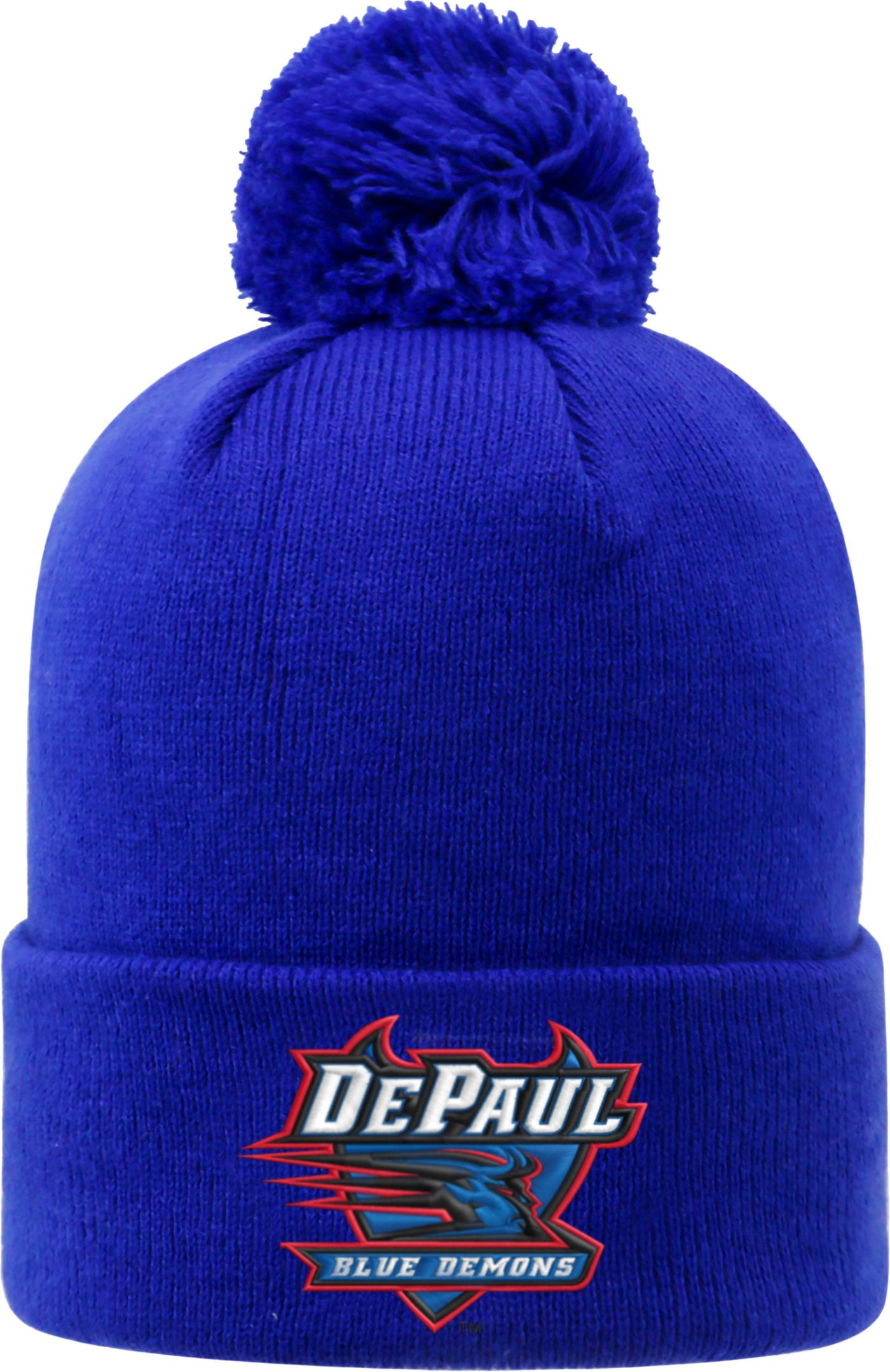 Top of the World Men's DePaul Blue Demons Royal Blue Pom Knit Beanie