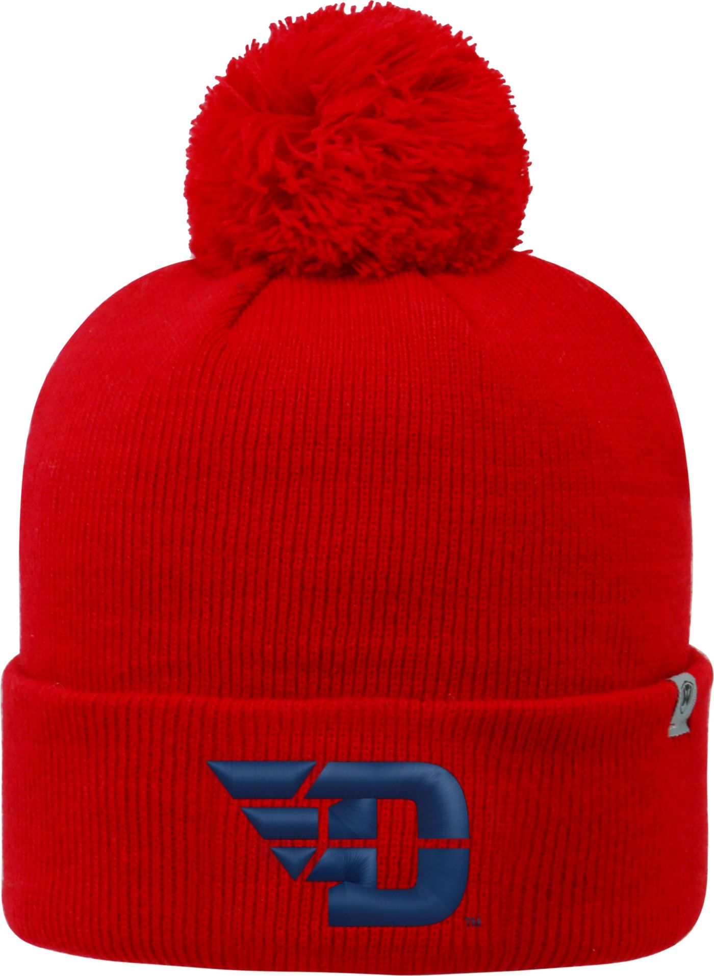 Top of the World Men's Dayton Flyers Red Pom Knit Beanie