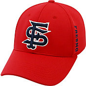 Top of the World Men's Fresno State Bulldogs Cardinal Booster Plus 1Fit Flex Hat