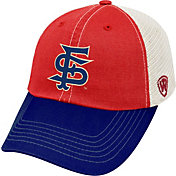 Top of the World Men's Fresno State Bulldogs Cardinal/Blue/White Off Road Adjustable Hat
