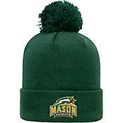 Top of the World Men's George Mason Patriots Green Pom Knit Beanie