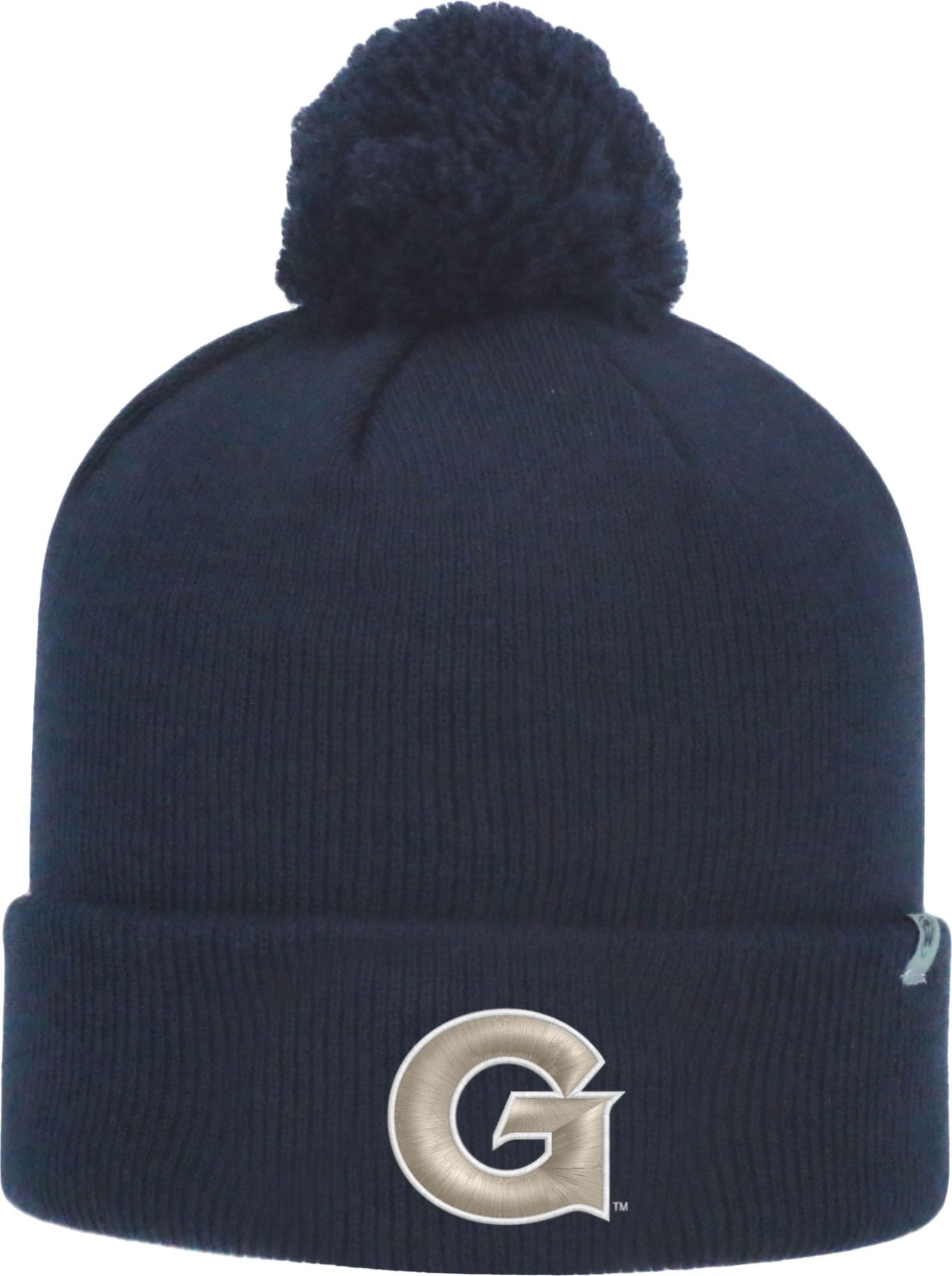 cb2e3d8f Top of the World Men's Georgetown Hoyas Blue Pom Knit Beanie