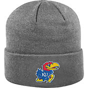 Top of the World Men's Kansas Jayhawks Grey Cuff Knit Beanie