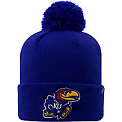 Top of the World Men's Kansas Jayhawks Blue Pom Knit Beanie