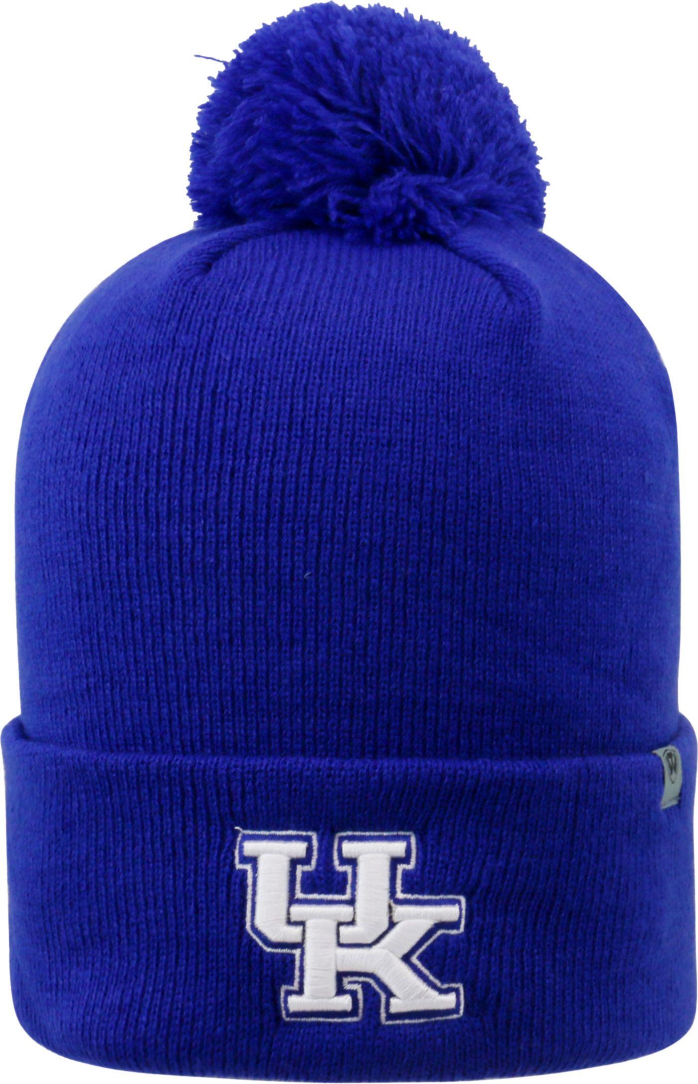 Top of the World Men's Kentucky Wildcats Blue Pom Knit Beanie