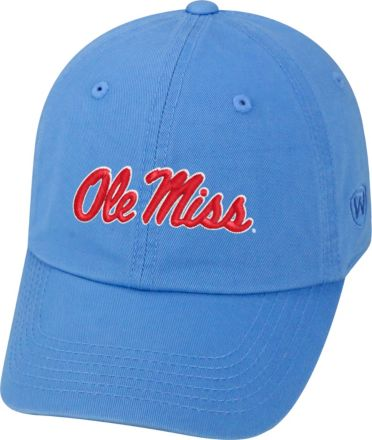 65320e05a Top of the World Men's Ole Miss Rebels Light Blue Crew Adjustable