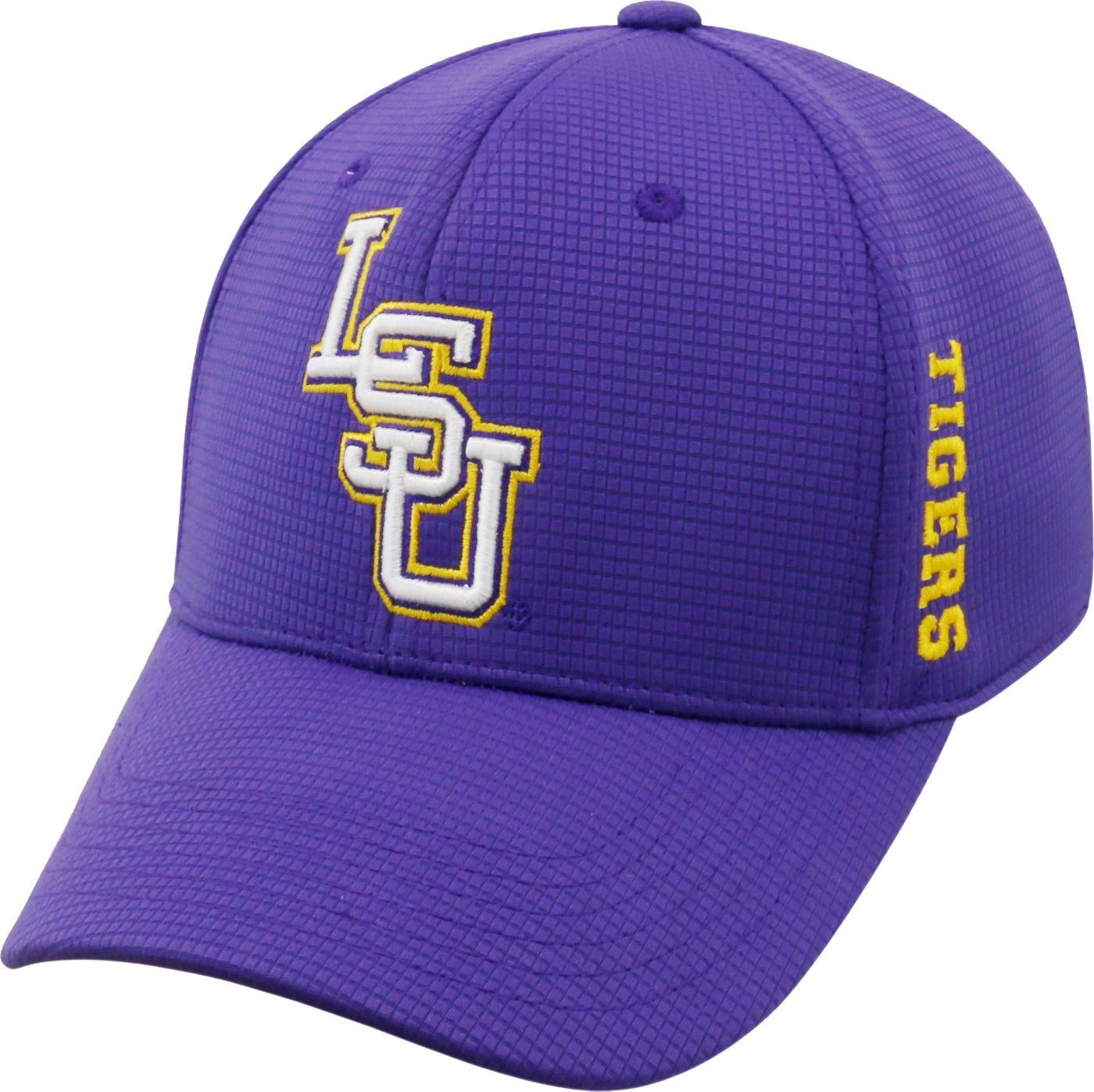 Top of the World Men's LSU Tigers Purple Booster Plus 1Fit Flex Hat
