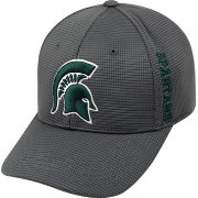 Top of the World Men's Michigan State Spartans Charcoal Booster Plus 1Fit Flex Hat