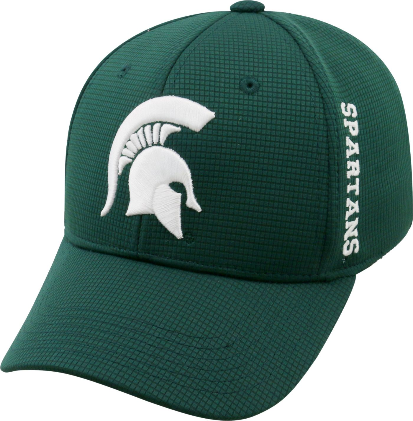 Top of the World Men's Michigan State Spartans Green Booster Plus 1Fit Flex Hat