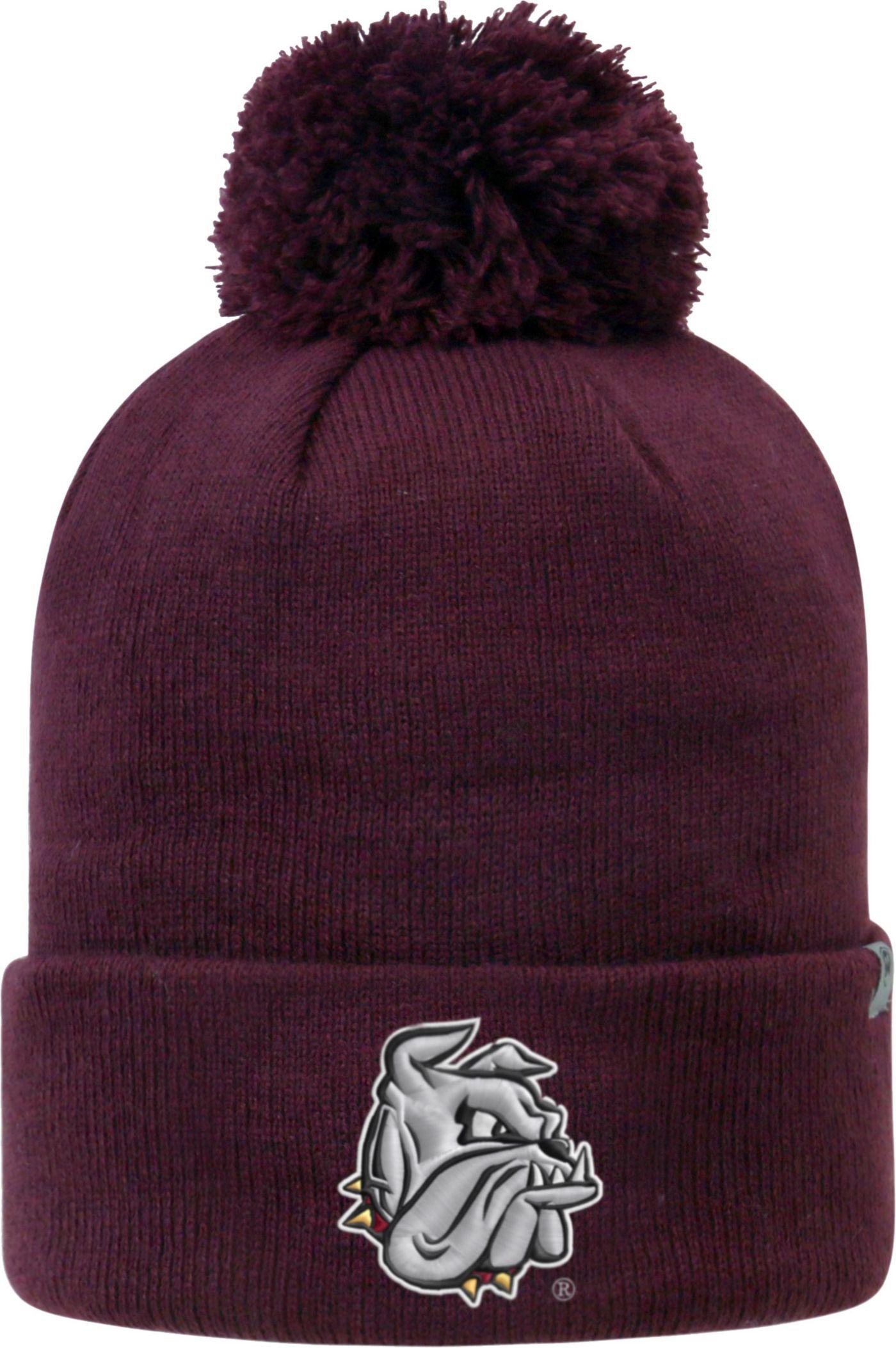 Top of the World Men's Minnesota-Duluth  Bulldogs Maroon Pom Knit Beanie