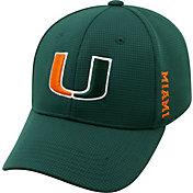Top of the World Men's Miami Hurricanes Green Booster Plus 1Fit Flex Hat