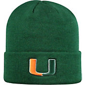 Top of the World Men's Miami Hurricanes Green Cuff Knit Beanie