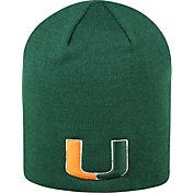 Top of the World Men's Miami Hurricanes Green TOW Classic Knit Beanie