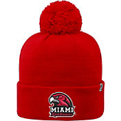 Top of the World Men's Miami RedHawks Red Pom Knit Beanie