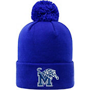 Top of the World Men's Memphis Tigers Blue Pom Knit Beanie