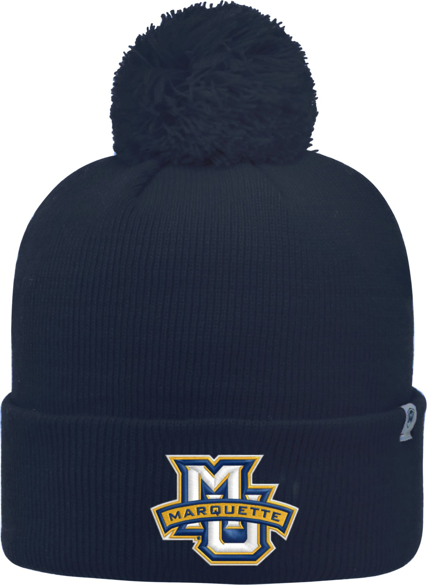 Top of the World Men's Marquette Golden Eagles Blue Pom Knit Beanie