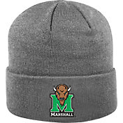 Top of the World Men's Marshall Thundering Herd Grey Cuff Knit Beanie