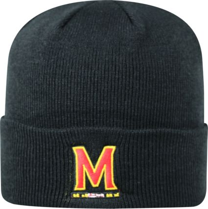 Top of the World Men s Maryland Terrapins Black Cuff Knit Beanie ... d8f1cb9edf4