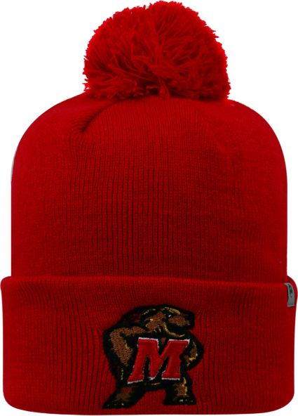e0683ac7761ba7 Top of the World Men's Maryland Terrapins Red Pom Knit Beanie. noImageFound