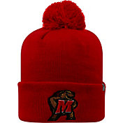 Top of the World Men's Maryland Terrapins Red Pom Knit Beanie