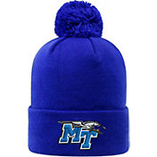Top of the World Men's Middle Tennessee State Blue Raiders Blue Pom Knit Beanie