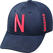 Top of the World Men's Nebraska Cornhuskers Black Booster Plus 1Fit Flex Hat
